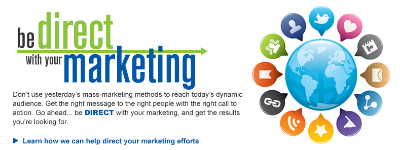 Be direct with your marketing.